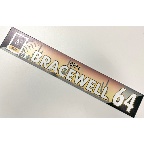 Photo of Game-Used 2021 Spring Training Locker Nameplate - Ben Bracewell