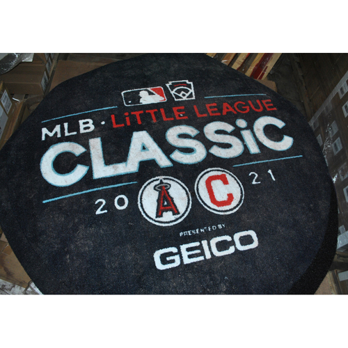 Photo of Game-used On Deck Circle - 2021 Little League Classic - Los Angeles Angels vs. Cleveland Indians - 8/22/2021 - Muncy Bank Ballpark at Historic Bowman Field in Williamsport, Pennsylvania - Angels On Deck Circle