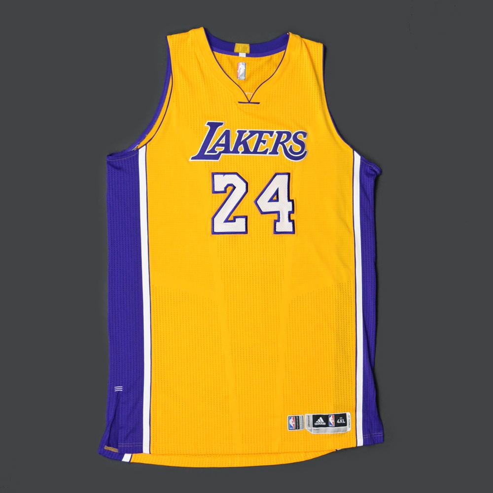 eee23cd5eec Kobe Bryant - Los Angeles Lakers - Game-Worn Jersey - Kia NBA Tip ...