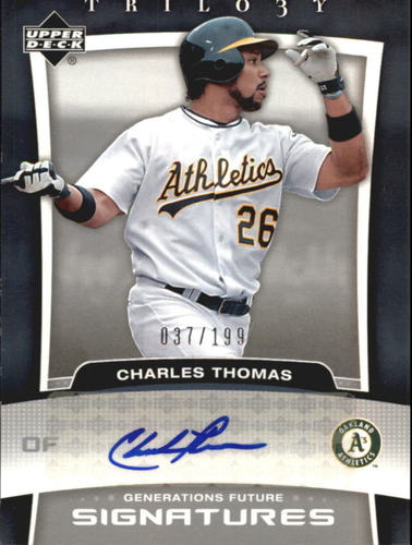 Photo of 2005 Upper Deck Trilogy Generations Future Signatures Silver #TH Charles Thomas/199