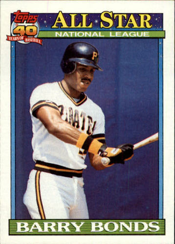 Photo of 1991 Topps #401 Barry Bonds AS
