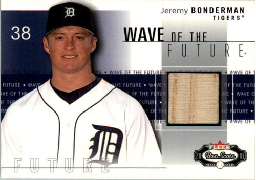 Photo of 2003 Fleer Box Score Wave of the Future Game Used #JB Jeremy Bonderman Bat