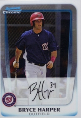 Photo of 2011 Bowman Chrome Prospects #BCP111 Bryce Harper  Pre-Rookie Card