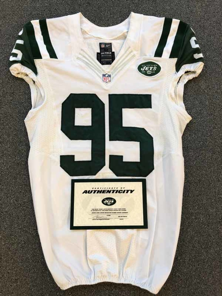 New York Jets - 2016 #95 Josh Martin Game Worn Jersey