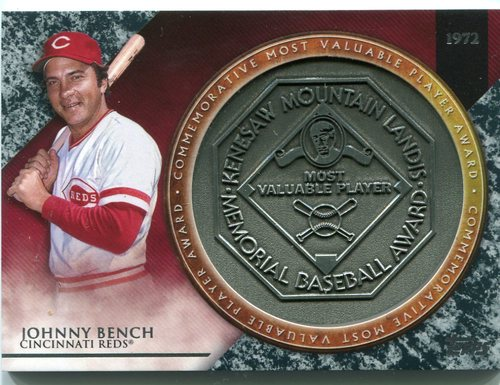 Photo of 2017 Topps Update MVP Award Relics #MVPRJB2 Johnny Bench