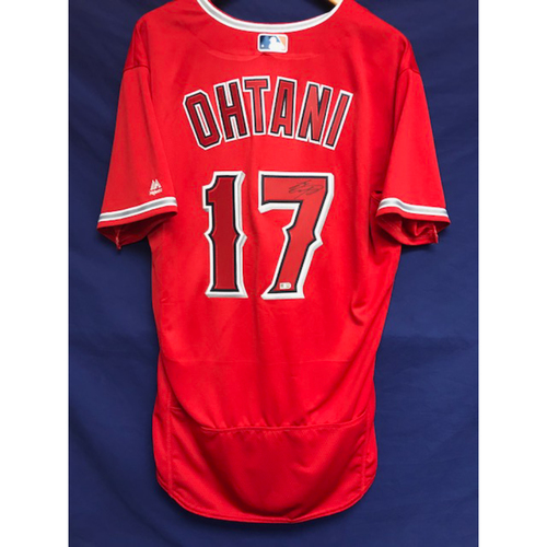 save off b993f e3ca5 MLB Auctions | Shohei Ohtani Autographed Alternate Red Jersey