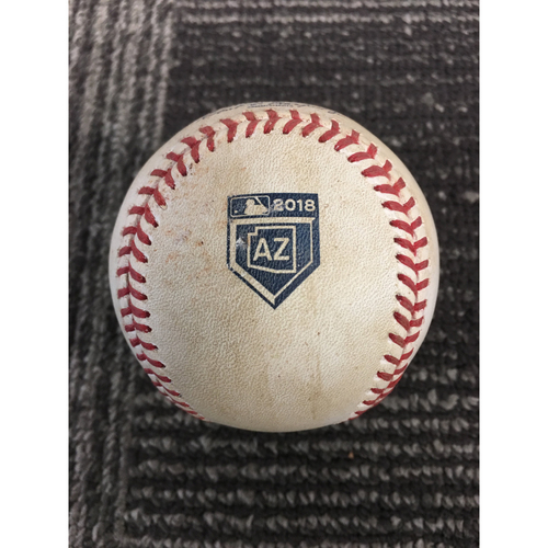 San Francisco Giants - 2018 Game Used Spring Training Baseball - 2/23/18 vs MIL