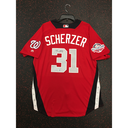 Photo of Max Scherzer 2018 Major League Baseball Workout Day Autographed Jersey