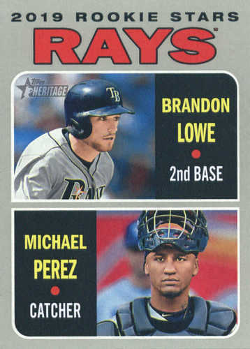 Photo of 2019 Topps Heritage #9 Brandon Lowe RC/Michael Perez RC