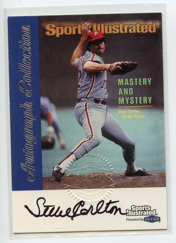 Photo of 1999 Sports Illustrated Greats of the Game Autographs #15 Steve Carlton