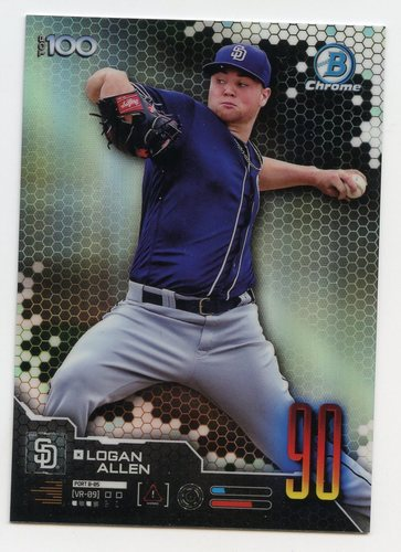 Photo of 2019 Bowman Chrome Scouts Top 100 #BTP90 Logan Allen