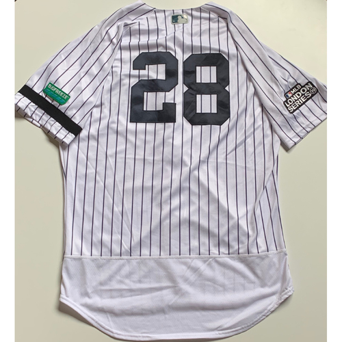 Photo of 2019 London Series - Game-Used Jersey - Austin Romine, New York Yankees vs Boston Red Sox - 6/29/19