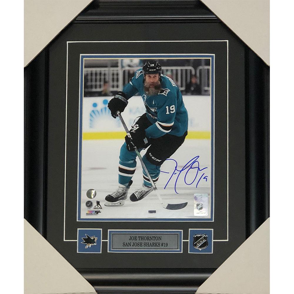 Joe Thornton Autographed San Jose Sharks Framed 8X10 Photo