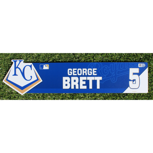 Team-Issued Nameplate: George Brett