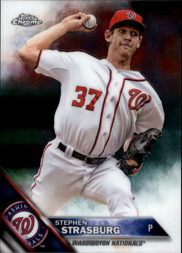 Photo of 2016 Topps Chrome #40 Stephen Strasburg
