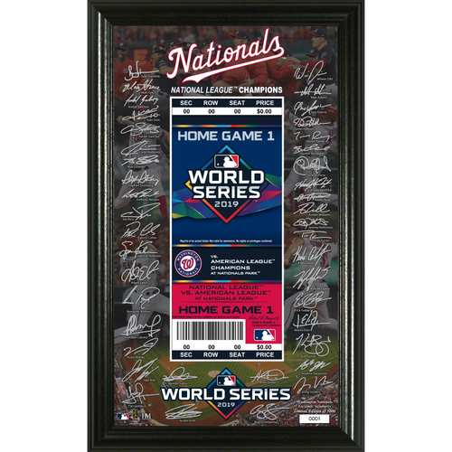 Photo of 2019 Washington Nationals NL Champions Signature Ticket Photo Mint