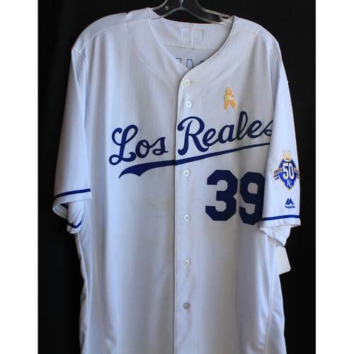 Photo of Game-Used Los Reales Jersey: Jason Hammel (Size 48 - 9/1/18 - BAL @ KC)