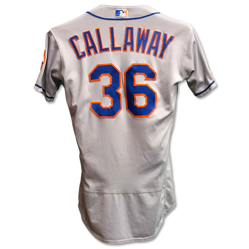 Photo of Mickey Callaway #36 - Game Used Road Grey Jersey - Mets vs. Reds - 9/20/19