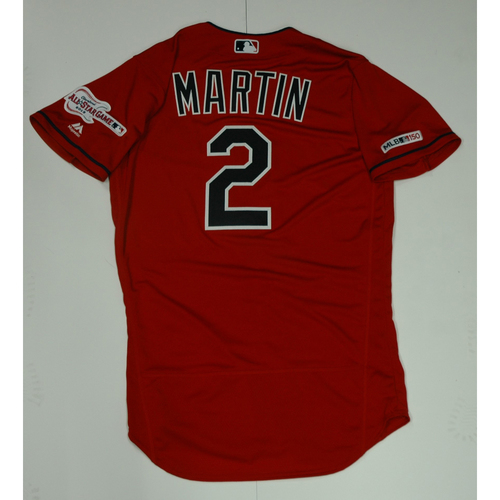 Photo of Leonys Martin Team Issued 2019 Red Home Alternate Jersey
