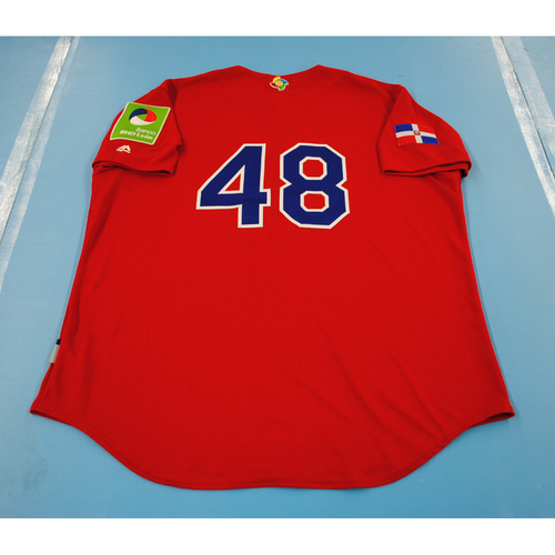 Photo of 2017 World Baseball Classic: Dominican Republic Batting Practice Jersey #48 - Mel Rojas Jr. - Size XL
