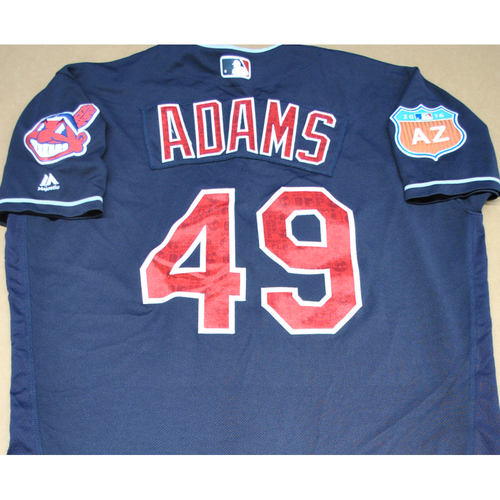 Photo of 2016 Spring Training - Spring Training Game Used Jersey - Austin Adams (Indians)- Size- 46