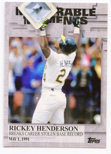 Photo of 2017 Topps Memorable Moments #MM43 Rickey Henderson