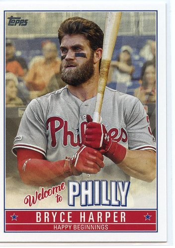 Photo of 2019 Topps Update Bryce Harper Welcome to Philly #BH4 Bryce Harper