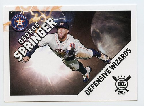 Photo of 2020 Topps Big League Defensive Wizards #DW7 George Springer
