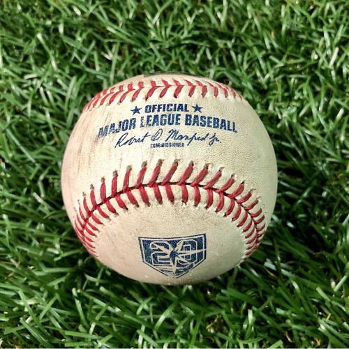 Photo of Game Used Baseball: Francisco Lindor single and Michael Brantley double off Jalen Beeks - September 10, 2018 v CLE