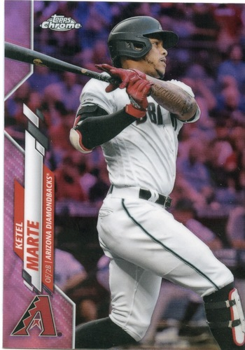Photo of 2020 Topps Chrome Pink Refractors #151 Ketel Marte
