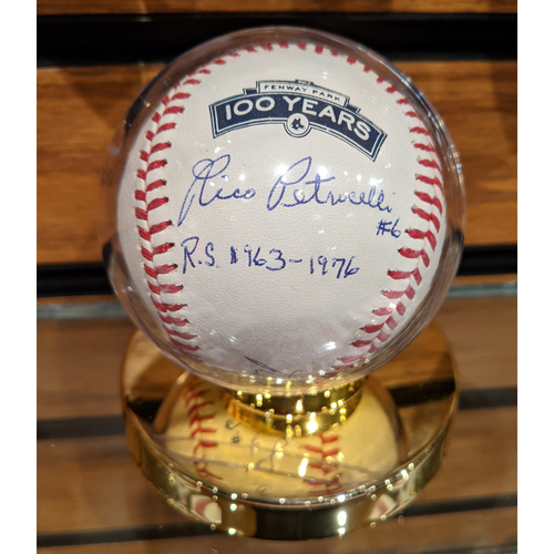 Photo of Rico Petrocelli Autographed Fenway 100 Years Baseball