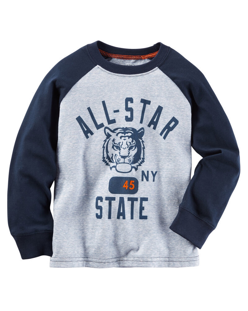 Photo of Carter's Toddler Boys' Long-Sleeve Graphic-Print T-Shirt