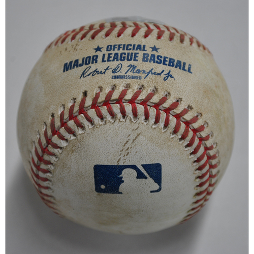 Photo of Game-Used Baseball - DET vs. PIT - 8/7/2020 - Pitcher - Dovydas Neverauskas, Batter - Jeimer Candelario, Top 11, Single