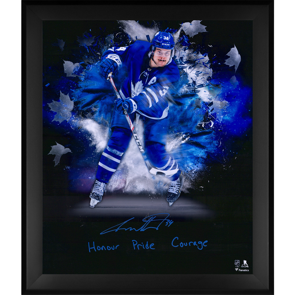 Auston Matthews Toronto Maple Leafs Framed Autographed 20
