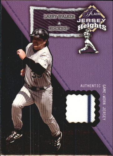 Photo of 2002 Flair Jersey Heights #25 Larry Walker *