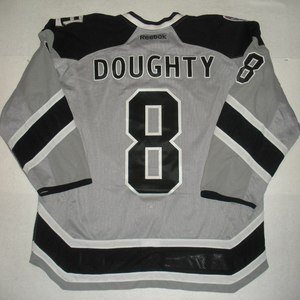 Drew Doughty - 2014 Stadium Series - Los Angeles Kings - Silver Game-Worn Jersey - Worn in First Period