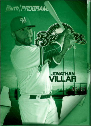 Photo of 2017 Topps Bunt Programs Green #PRJV Jonathan Villar