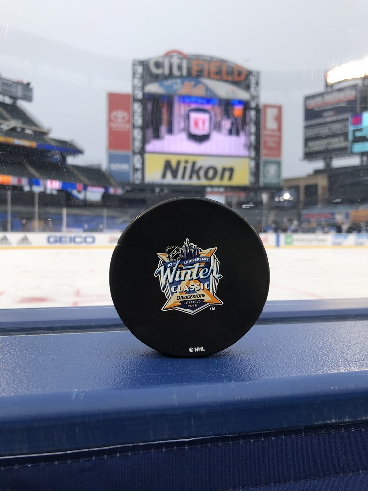 New York Rangers 2018 NHL Winter Classic Practice-Used Puck - Used During December 31, 2017 Practice Session