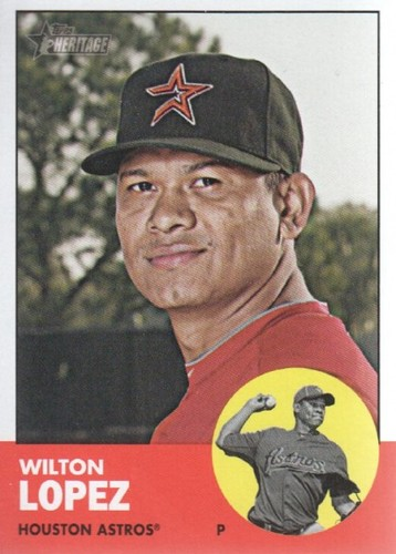 Photo of 2012 Topps Heritage #189 Wilton Lopez RC