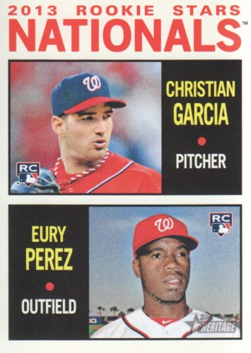 Photo of 2013 Topps Heritage #167 Christian Garcia (RC)/Eury Perez RC
