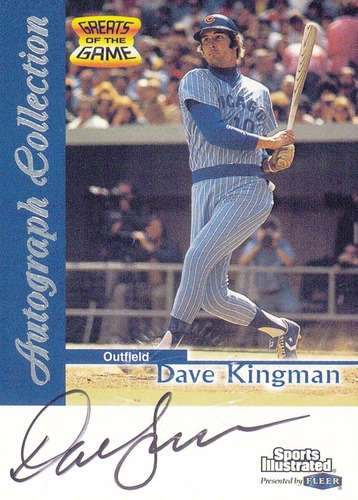 Photo of 1999 Sports Illustrated Greats of the Game Autographs #40 Dave Kingman