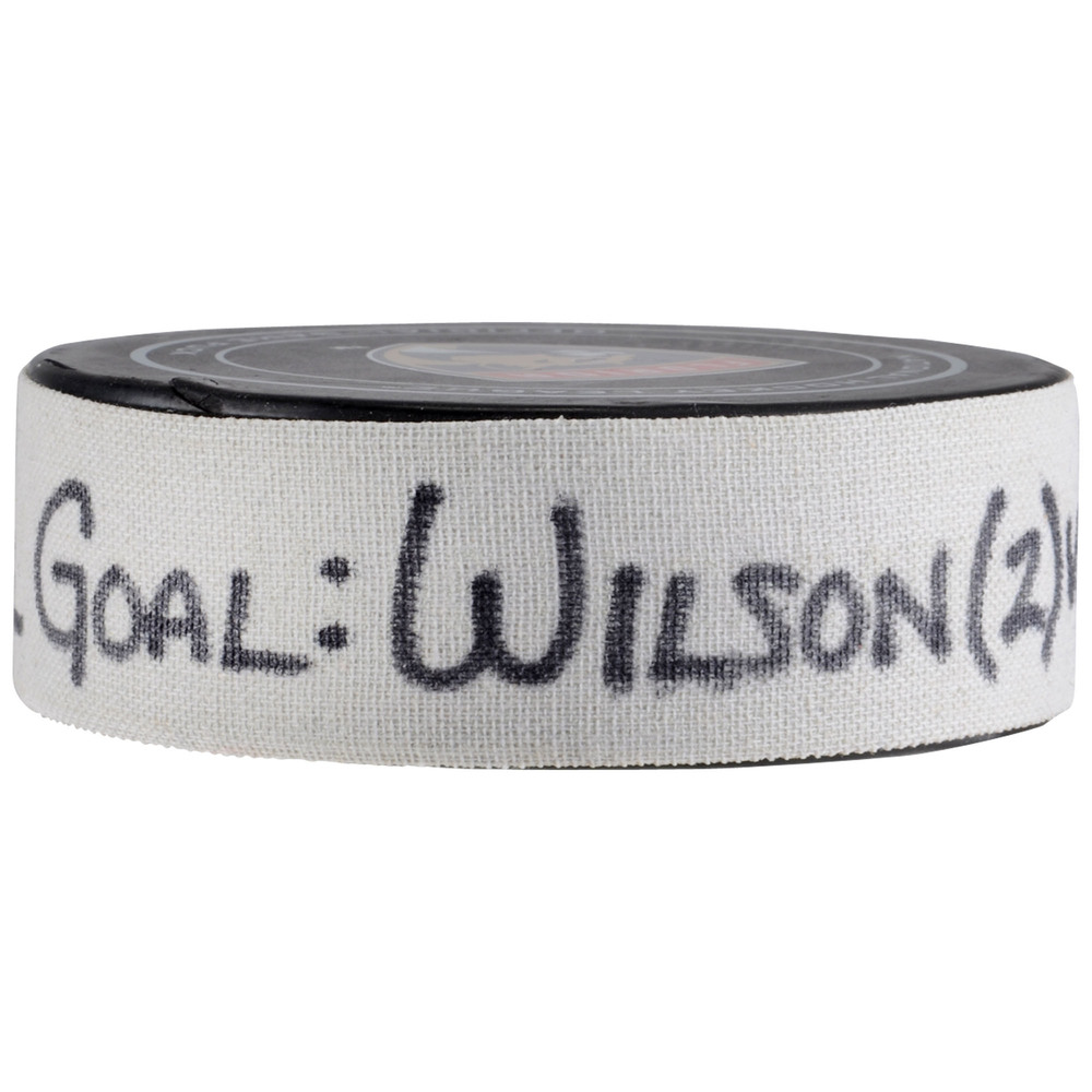Colin Wilson Colorado Avalanche Game-Used Goal Puck from December 9, 2017 vs. Florida Panthers