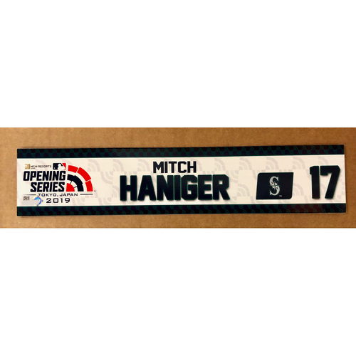 Photo of 2019 Japan Opening Day Series - Game Used Locker Tag - Mitch Haniger -  Seattle Mariners