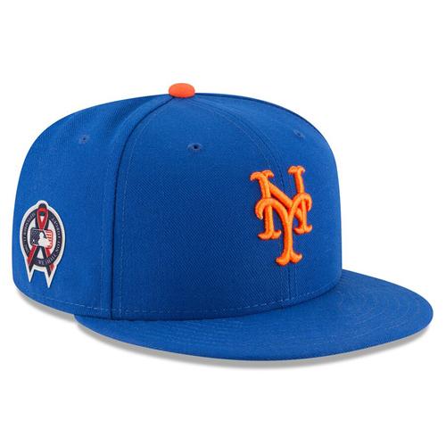 Photo of Edwin Diaz #39 - Game Used Blue Hat - Mets vs. Diamondbacks - 9/11/2019