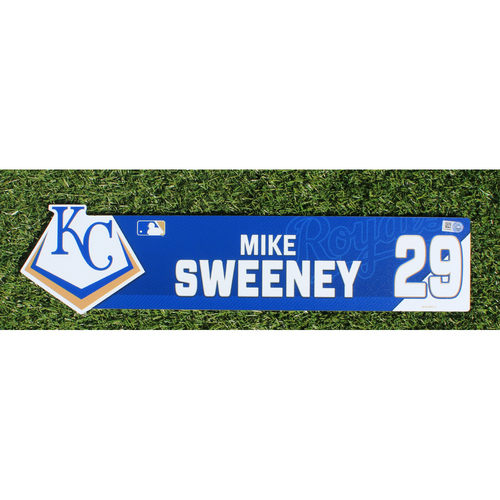 Photo of Team-Issued Nameplate: Mike Sweeney