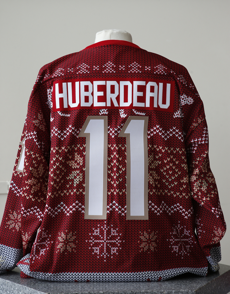 #11 Jonathan Huberdeau Autographed Holiday Jersey