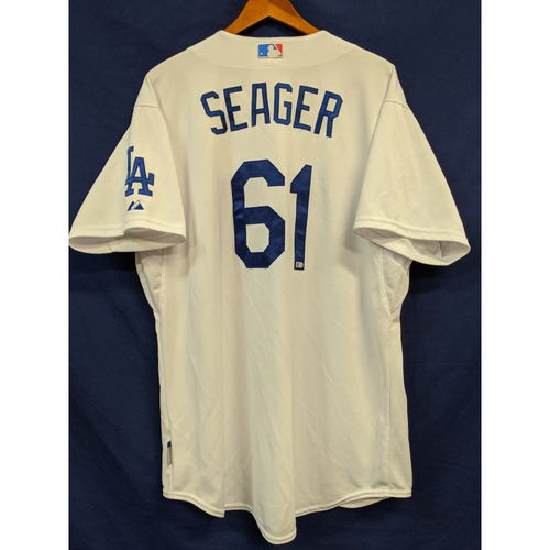 Photo of Corey Seager Team-Issued 2015 Home Jersey
