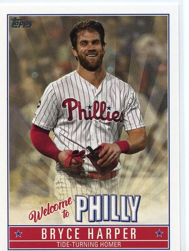Photo of 2019 Topps Update Bryce Harper Welcome to Philly #BH7 Bryce Harper