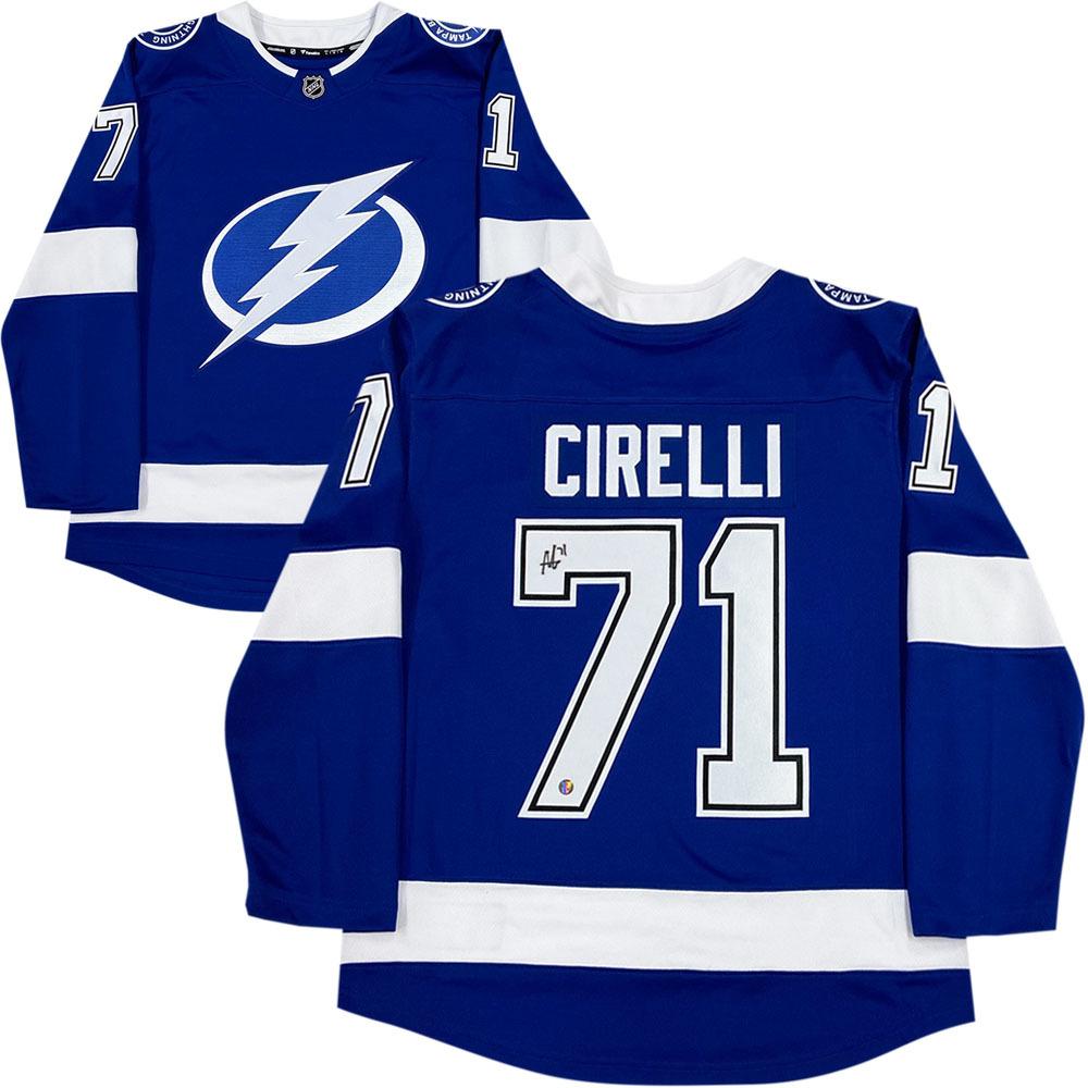 Anthony Cirelli Autographed Tampa Bay Lightning Fanatics Jersey