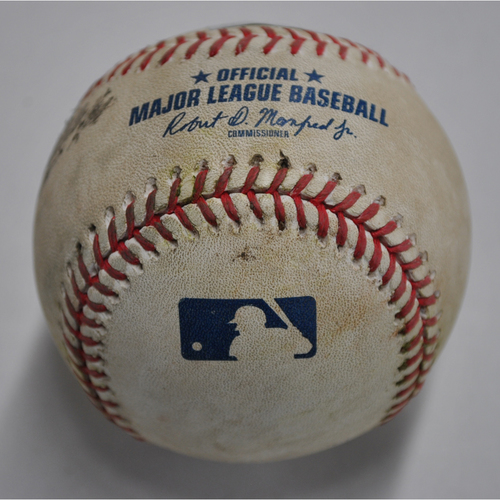 Photo of Game-Used Baseball - DET vs. PIT - 8/7/2020 - Pitcher - Dovydas Neverauskas, Batter - Niko Goodrum, Top 11, 2-RBI Double